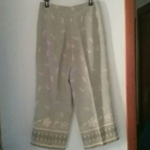 TOMMY BAHAMA DELIGHTFUL SILK Capri Length Pants🌺